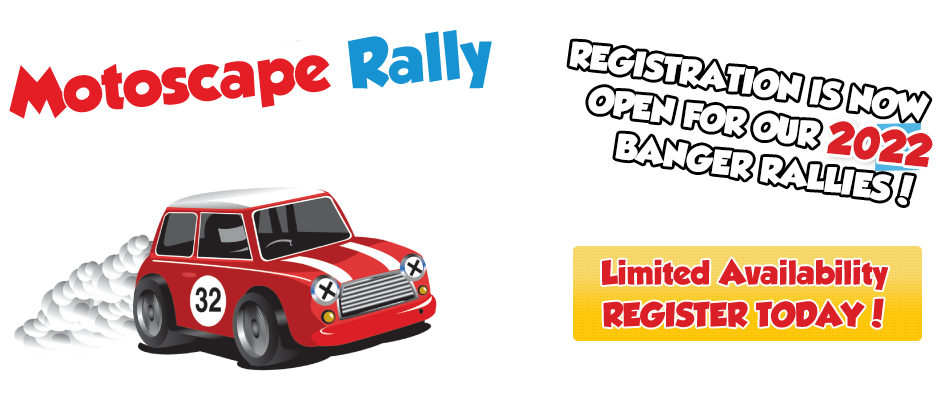 Register on the Motoscape Banger Rally!