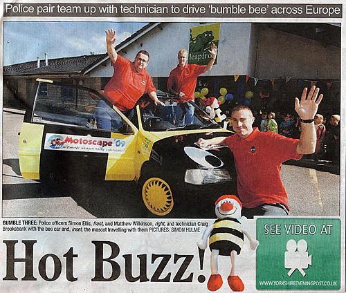 Motoscape Banger Rally in Yorkshire Evening Post