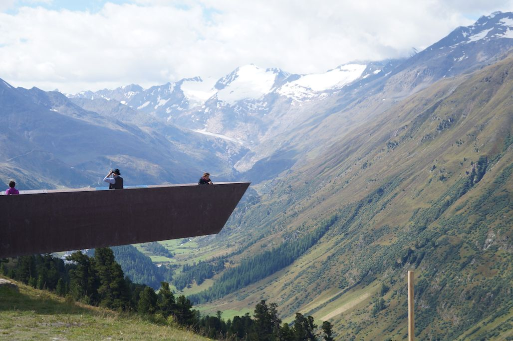 Looking out from the walkway at the Timmelsjoch pass