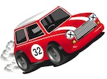 Motoscape banger rally mini in red