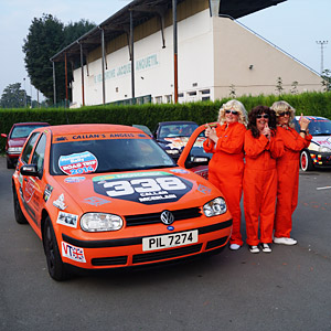 Charlie's Angels on a charity rally