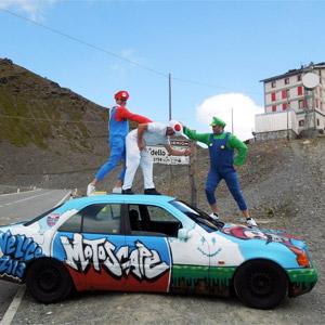 Super Mario bros on an around Europe trip