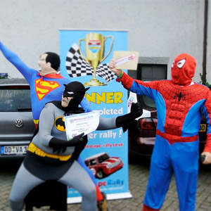 Winners of an old car rally