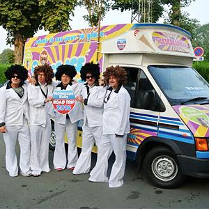 Icecream Van on a European rally