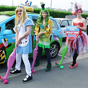 Alice in Wonderland at car rally events